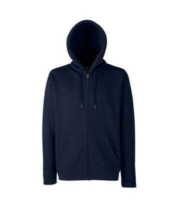 Fruit Of The Loom Mens Hooded Sweatshirt (Dark Heather) - UTBC1369