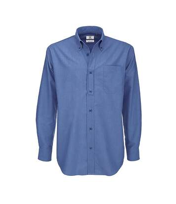 B&C Mens Oxford Long Sleeve Shirt / Mens Shirts (Black) - UTBC105