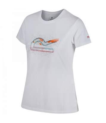 Regatta Fingal Iii - T-Shirt À Séchage Rapide - Femme (Blanc) - UTRG3322
