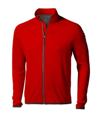 Elevate Mens Mani Power Fleece Full Zip Jacket (Red) - UTPF1942