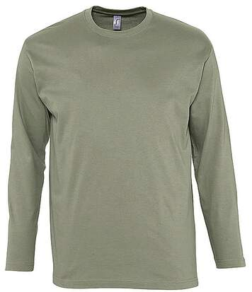 T-shirt manches longues HOMME - 11420 - vert kaki