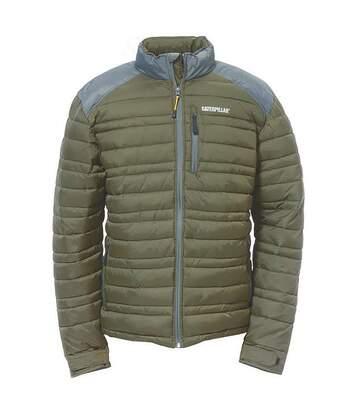 Caterpillar Mens Defender Insulated Zip Up Jacket (Army Moss) - UTFS4023