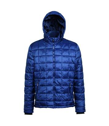 2786 Mens Box Quilt Hooded Zip Up Jacket (Navy) - UTRW5263