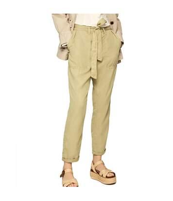 Pantalon Fluide Beige Femme Pepe Jeans Drifter