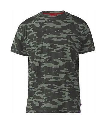Duke Mens Gaston Kingsize Camouflage Print T-Shirt (Jungle) - UTDC195