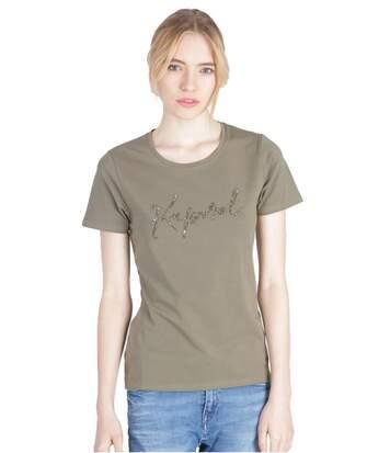 Tee Shirt Stretch Logo Strassé  -  Kaporal