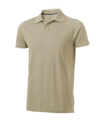 Elevate Mens Seller Short Sleeve Polo (Khaki) - UTPF1825