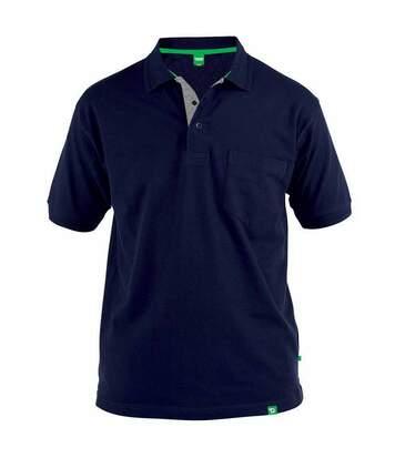 Duke Mens Grant Chest Pocket Pique Polo Shirt (Navy) - UTDC177