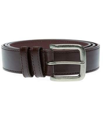Duke Mens Archie Antique Buckle Belt (Brown) - UTDC119