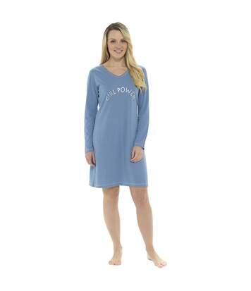 Chemise De Nuit - Femme (Bleu denim) - UTUT552