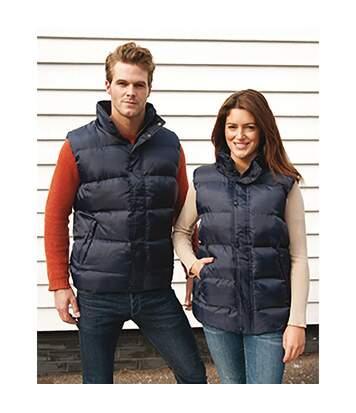 Result Mens Core Nova Lux Padded Fleece Lined Bodywarmer Jacket (Navy Blue) - UTBC2051