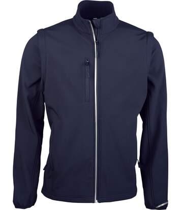 Veste softshell manches amovibles PA323 - bleu marine - homme