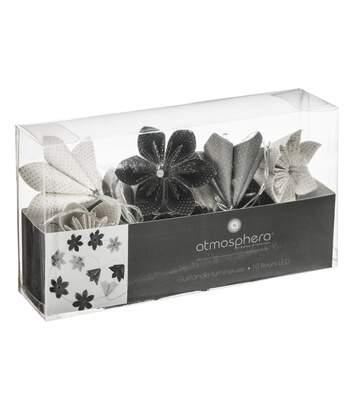 Atmosphera - Guirlande 10 LED fleurs coloris noir à piles
