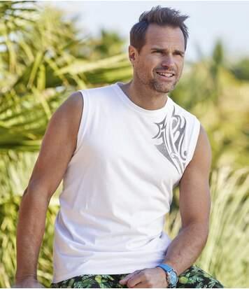 3er-Pack Ärmellose T-Shirts Bora Bora
