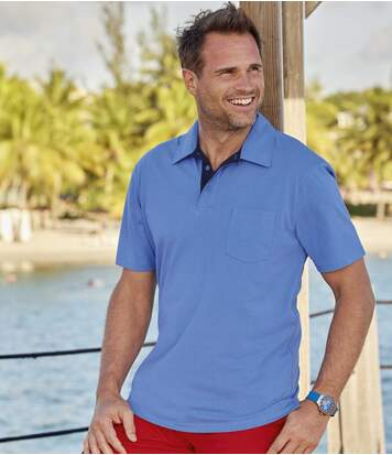 Zestaw 3 jednokolorowych koszulek polo