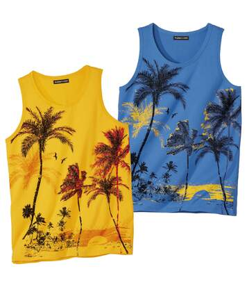 2er-Pack Tanktops Palm Summer