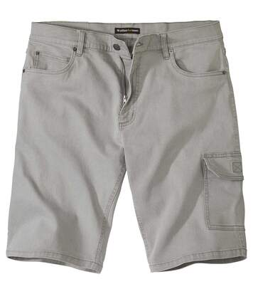 Men's Grey Denim Cargo Shorts