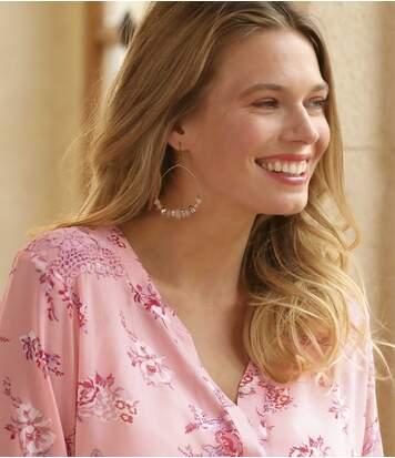 Блуза из Муслина с Цветочным Принтом