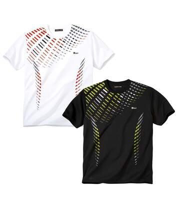 2er-Pack T-Shirts Sports mit Aufdruck