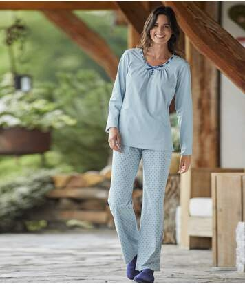 Divatos kék pizsama