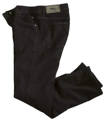 Zwarte regular stretch jeans