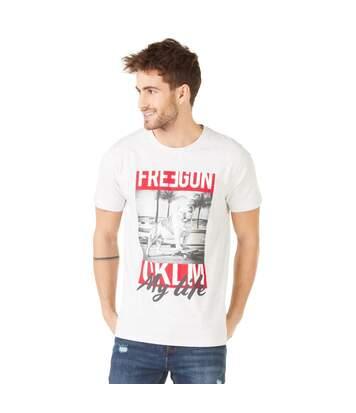 T-shirt Homme OKLM Blanc