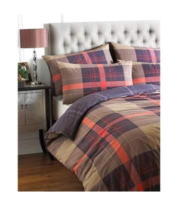 Riva Home Clubhouse - Parure de lit à carreaux (Cannelle) - UTRV305