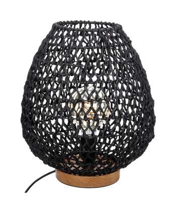 Atmosphera - Lampe à poser Etel en métal et papier Noir H 35.5 cm