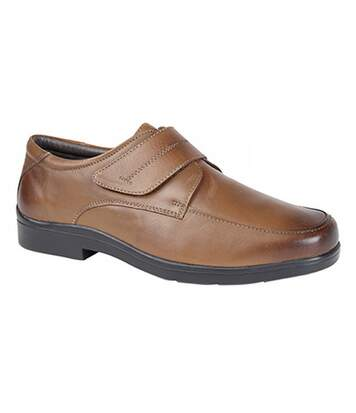 Roamers Mens Touch Fastening Mudguard Casual Shoes (Brown) - UTDF1195