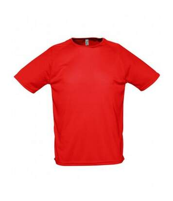SOLS Mens Sporty Short Sleeve Performance T-Shirt (Red) - UTPC303