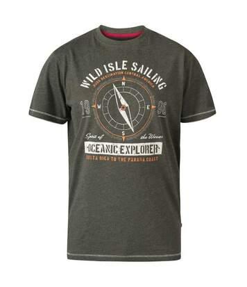 Duke - T-Shirt Manches Courtes Atticus - Homme (Kaki chiné) - UTDC288