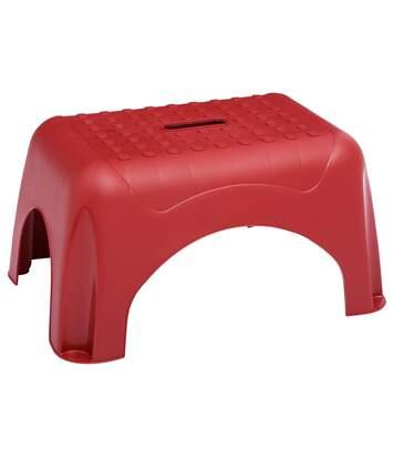 Marche pied en plastique - H. 31 cm - Rouge