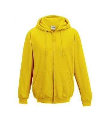 Awdis Plain Mens Hooded Full Zip Hoodie / Zoodie (Sun Yellow) - UTRW180