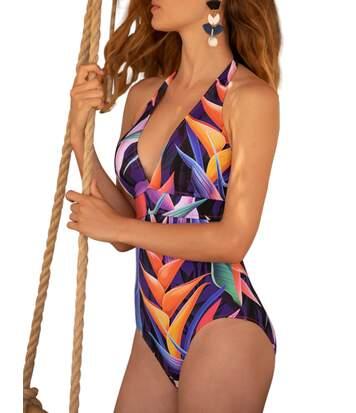 Maillot de bain 1 pièce dos nu Malibu multicolore Admas