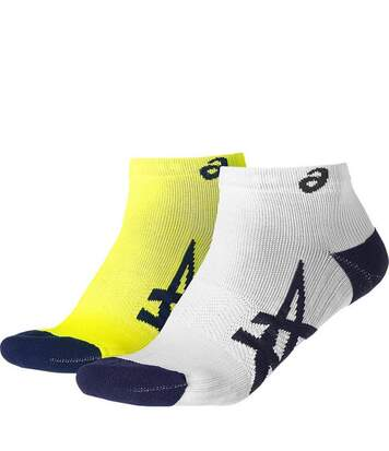 Lot 2 Paires Homme/Femme Chaussettes Running Jaune/Blanc Asics