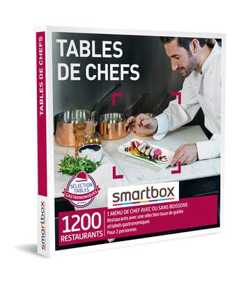 SMARTBOX - Tables de chefs - Coffret Cadeau Gastronomie