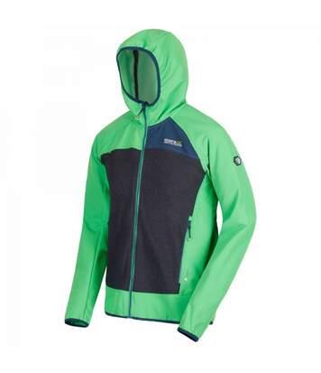 Regatta Mens Carpo Hybrid Hooded Jacket (Yellow Green/Granite Grey) - UTRG3664