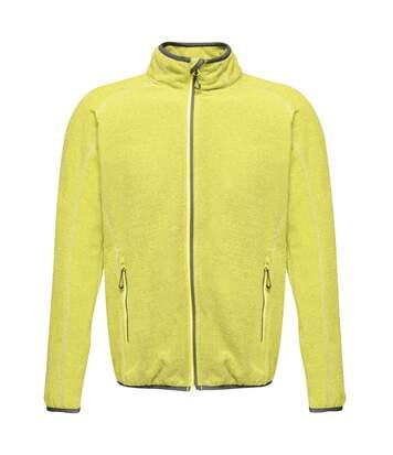 Regatta Mens Dreamste Full Zip Mini Honeycomb Fleece (Lime Punch) - UTRG4158