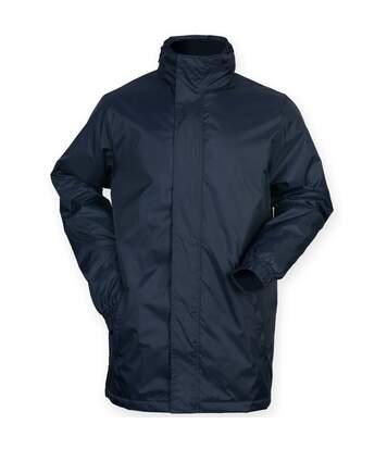 Finden & Hales Mens Touchline Hooded Full Zip Sports Jacket (Navy) - UTRW4691