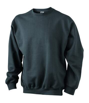 Sweat-shirt col rond - JN040 - gris graphite - mixte homme femme