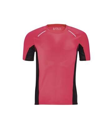 SOLS Mens Sydney Reflective Running T-Shirt (Neon Coral) - UTPC2595