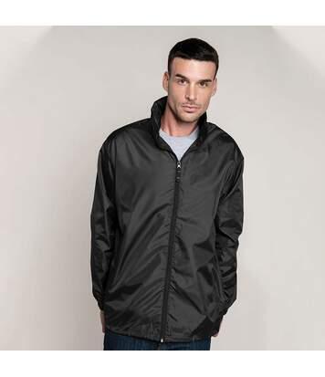 Kariban Mens Casual Windbreaker Jacket (Black) - UTRW2711