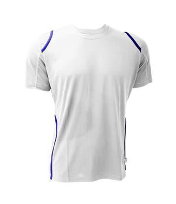 Gamegear® Cooltex® Short Sleeved T-Shirt / Mens Sportswear (White/Electric Blue) - UTBC451