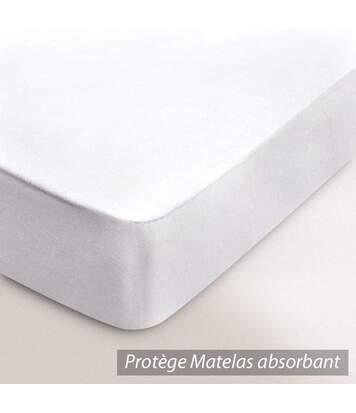 Protège matelas absorbant Antonin blanc 2x80x200 Spécial lit articulé TR