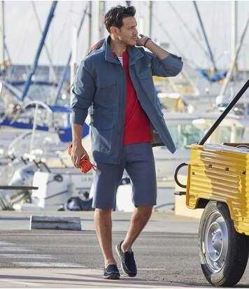 Men's Blue Twill Marina Shorts