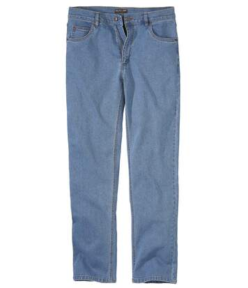 Niebieskie jeansy Regular ze stretchem