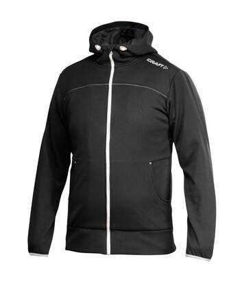 Craft Mens Leisure Athletic Full Zip Hoodie Jacket (Black) - UTRW4131