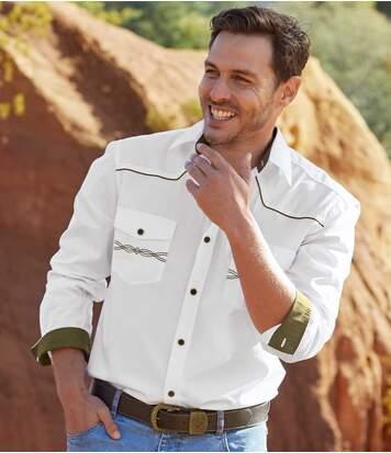 Country stílusú fehér ing