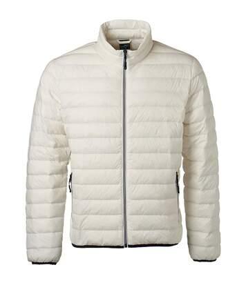 Veste doudoune matelassée duvet - JN1140 - blanc cassé - Homme