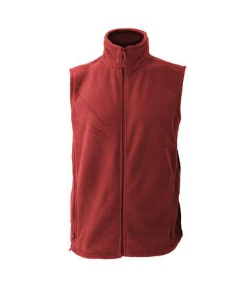 Jerzees Colour Fleece Gilet Jacket / Bodywarmer (Classic Red) - UTBC576